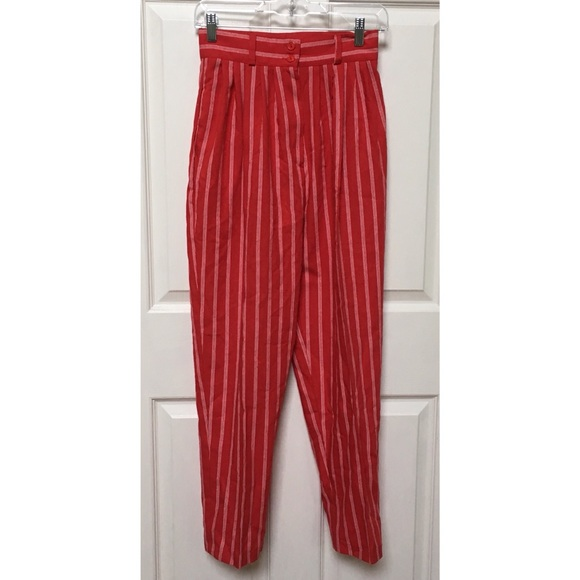 04d390d9b886 Vintage 80s High Waisted Striped Trousers. M 5b137337baebf68c6219b0a2